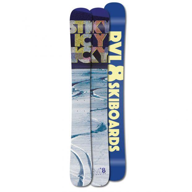 Rvl8 Cambered/Rockered Sticky Icky Icky 104cm Skiboards 2018