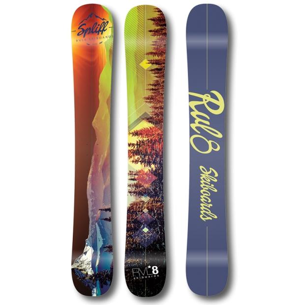 RVL8 Cambered/Rockered Spliff 109cm Skiboards 2016