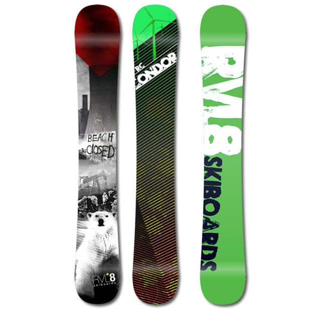 Rvl8 Rockered Condor 110cm Skiboards 2015
