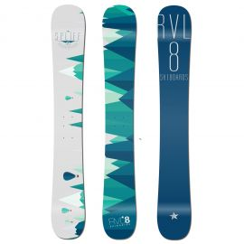 Rvl8 Cambered/Rockered Spliff 109cm Skiboards 2019