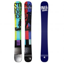 Rvl8 Cambered/Rockered Sticky Icky Icky 104cm Skiboards 2020