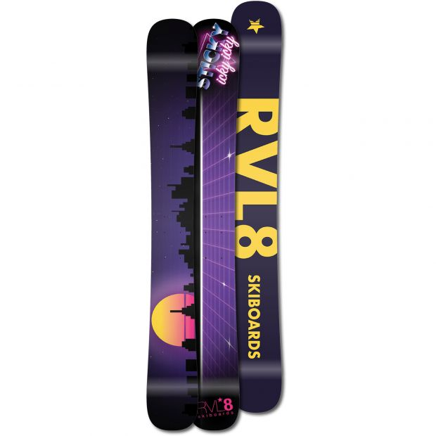 Rvl8 Cambered/Rockered Sticky Icky Icky 104cm Skiboards 2021